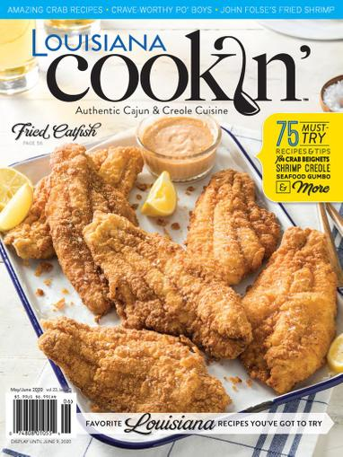 Louisiana Cookin Magazine May 1st, 2020 Issue Cover