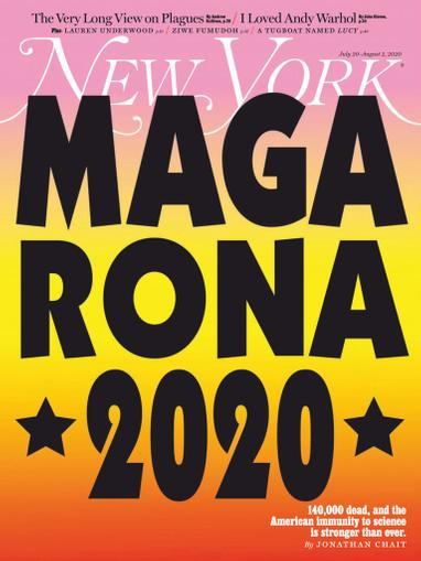 New York Magazine July 20th, 2020 Issue Cover