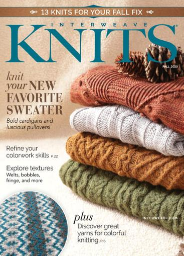 Interweave Knits Magazine July 16th, 2020 Issue Cover