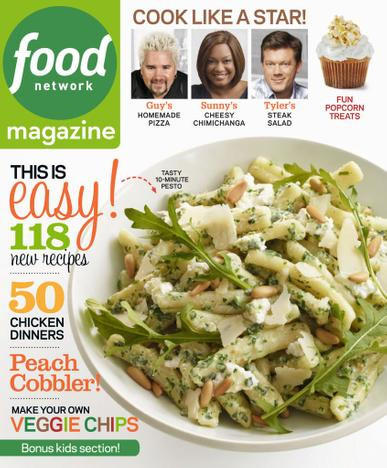 Food Network Magazine September 1st, 2013 Issue Cover