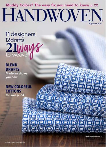 Handwoven Magazine May 1st, 2020 Issue Cover