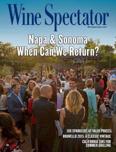 Wine Spectator Magazine June 15th, 2020 Issue Cover