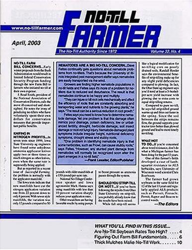 No-till Farmer Magazine Cover