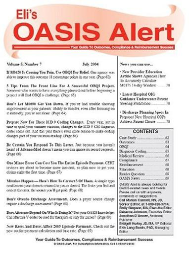 Oasis Alert Magazine Cover