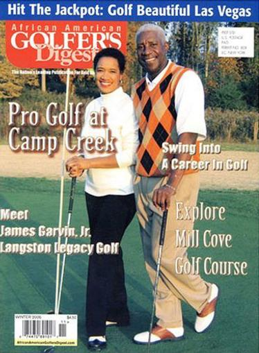 African American Golfer's Digest Magazine Cover