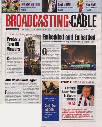 Broadcasting & Cable Magazine Cover