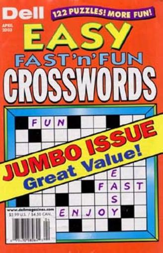 Dell Best Easy Fast 'n Fun Crosswords Magazine Cover