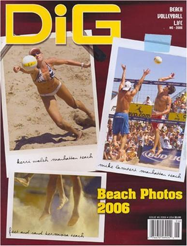 Dig Beach Volleyball Life Magazine Cover