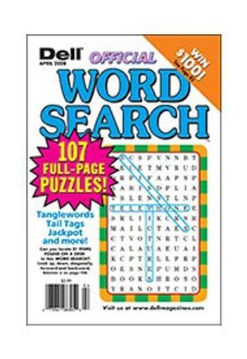 Dell Official Word Search Puzzles Magazine Cover