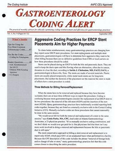 Gastroenterology Coding Alert Magazine Cover