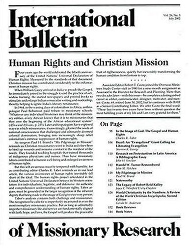 International Bulletin of Missionary Research Magazine Cover