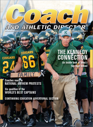 Coach And Athletic Director Magazine Cover