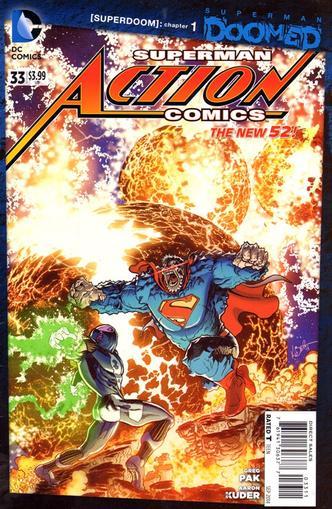 Action Comics Superman Magazine Cover