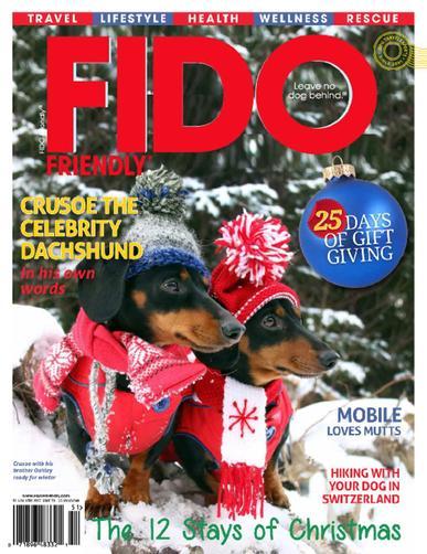 Fido Friendly Magazine November 1st, 2017 Issue Cover