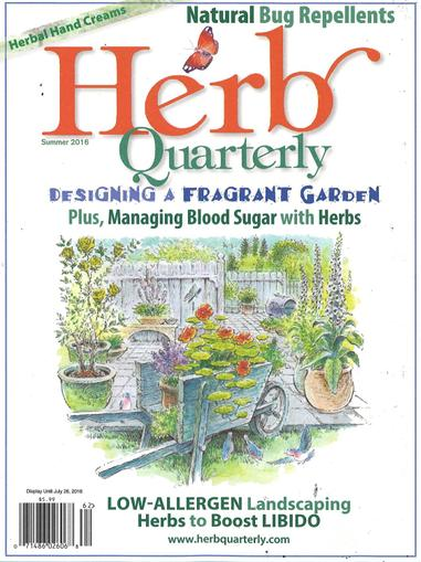 Herb Quarterly Magazine April 1st, 2016 Issue Cover