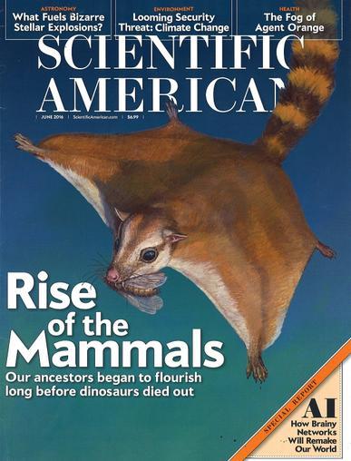 Scientific American Magazine June 1st, 2016 Issue Cover
