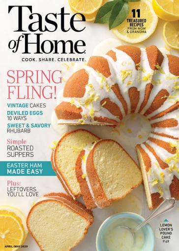 Taste of Home Magazine Cover