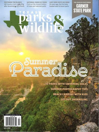 Texas Parks & Wildlife Magazine Cover