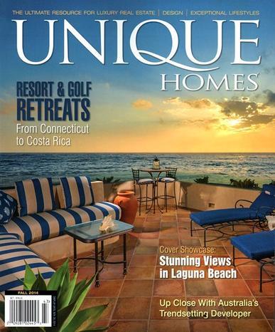 Unique Homes Magazine Cover