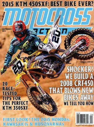 Motocross Action Magazine Cover
