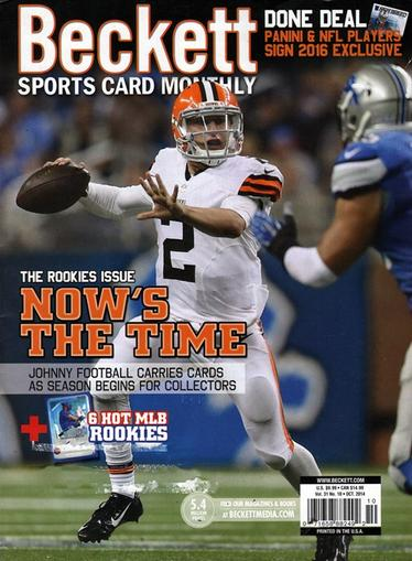 Beckett Sports Card Monthly Magazine Cover