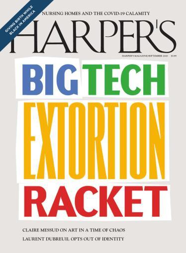 Harpers Magazine September 1st, 2020 Issue Cover