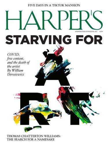 Harpers Magazine June 1st, 2021 Issue Cover