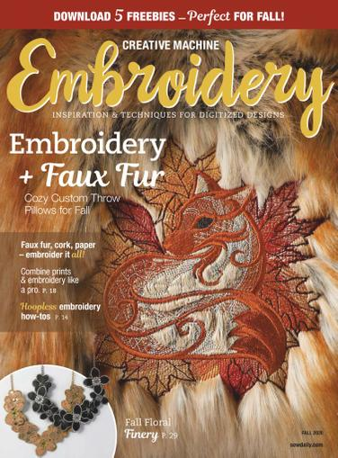 Creative Machine Embroidery Magazine July 1st, 2020 Issue Cover