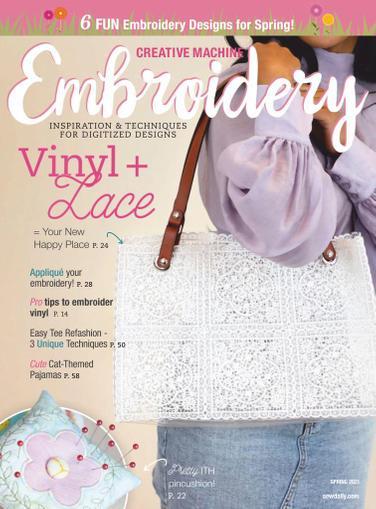 Creative Machine Embroidery Magazine November 1st, 2020 Issue Cover