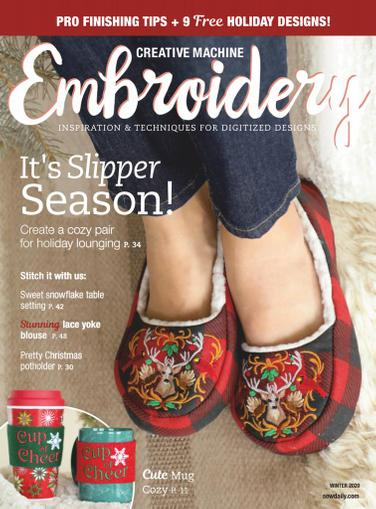 Creative Machine Embroidery Magazine October 1st, 2020 Issue Cover