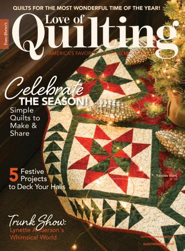 Fon's & Porter's Love Of Quilting Magazine November 1st, 2020 Issue Cover