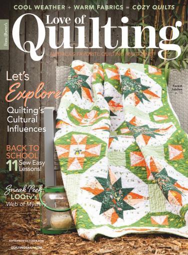 Fon's & Porter's Love Of Quilting Magazine September 1st, 2020 Issue Cover