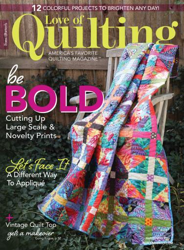 Fon's & Porter's Love Of Quilting Magazine March 1st, 2021 Issue Cover