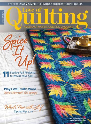 Fon's & Porter's Love Of Quilting Magazine September 1st, 2021 Issue Cover