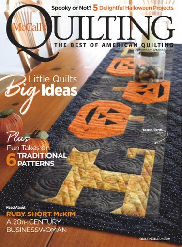 McCall's Quilting Magazine September 1st, 2020 Issue Cover