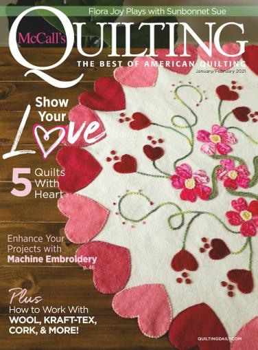 McCall's Quilting Magazine January 1st, 2021 Issue Cover