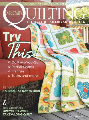 McCall's Quilting Magazine March 1st, 2021 Issue Cover
