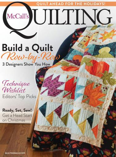 McCall's Quilting Magazine September 1st, 2021 Issue Cover