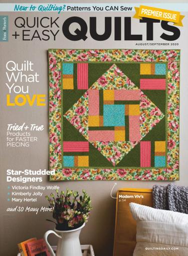 Quick Quilts Magazine August 1st, 2020 Issue Cover