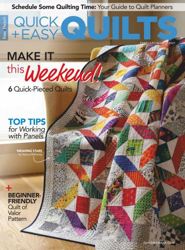 Quick Quilts Magazine February 1st, 2021 Issue Cover