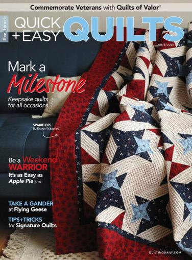 Quick Quilts Magazine June 1st, 2021 Issue Cover