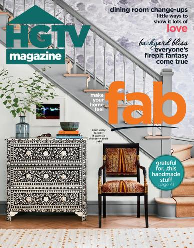 HGTV Magazine November 1st, 2020 Issue Cover