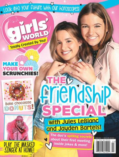 Girls' World Magazine March 1st, 2021 Issue Cover
