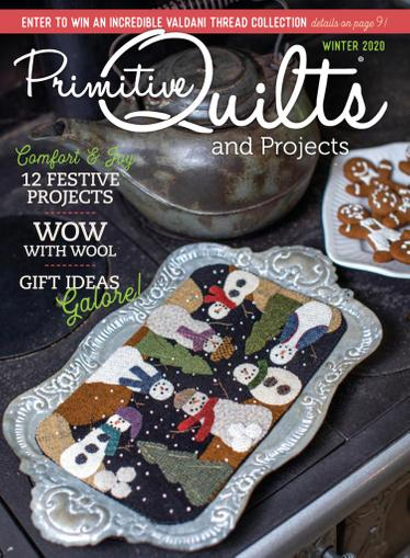 Primitive Quilts & Projects Magazine October 12th, 2020 Issue Cover