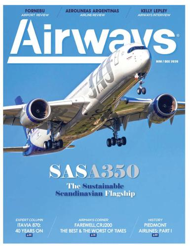 Airways Magazine November 1st, 2020 Issue Cover