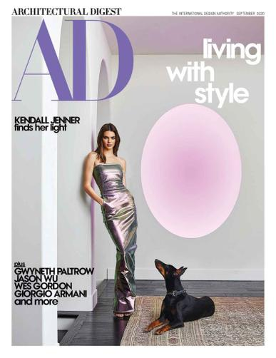 Architectural Digest Magazine September 1st, 2020 Issue Cover