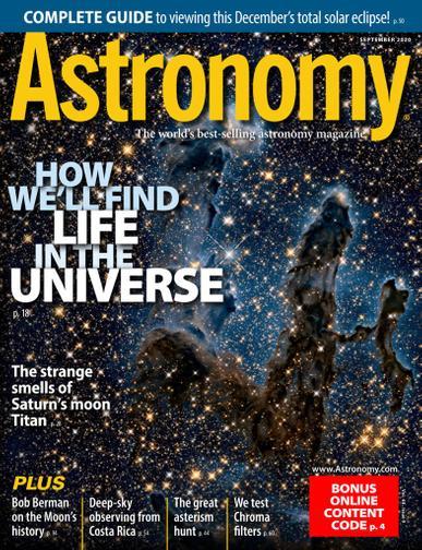 Astronomy Magazine September 1st, 2020 Issue Cover