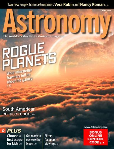 Astronomy Magazine April 1st, 2021 Issue Cover