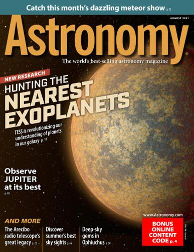 Astronomy Magazine August 1st, 2021 Issue Cover