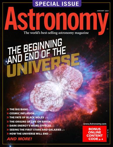 Astronomy Magazine January 1st, 2021 Issue Cover